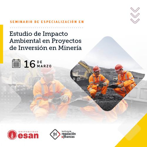 Seminario de Especialización en Estudio de Impacto Ambiental en Proyectos de Inversión en Minería