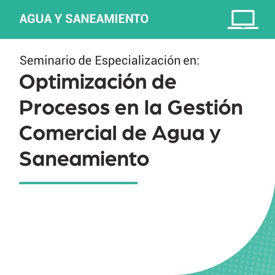Seminario de Especialización en Optimización de Procesos en la Gestión Comercial de Agua y Saneamiento: Aplicación de la Transformación Digital