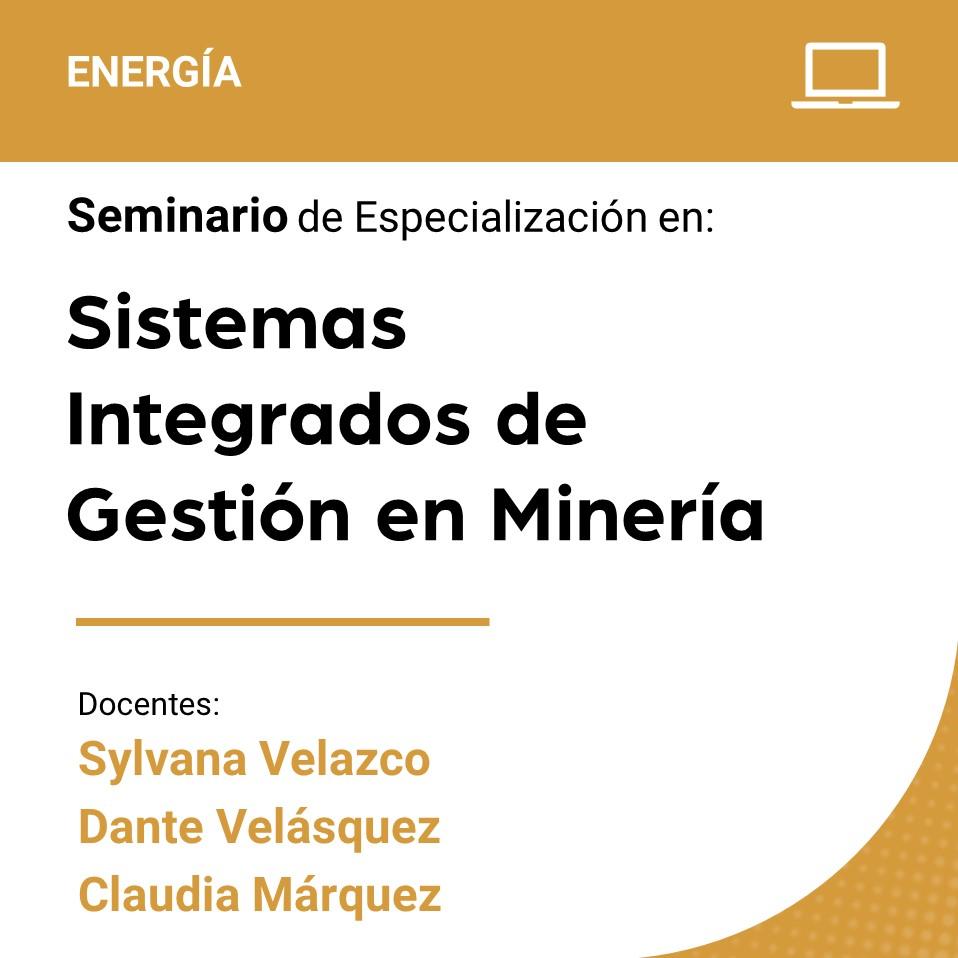 Seminario de especialización en Sistemas Integrados  de Gestión en Minería