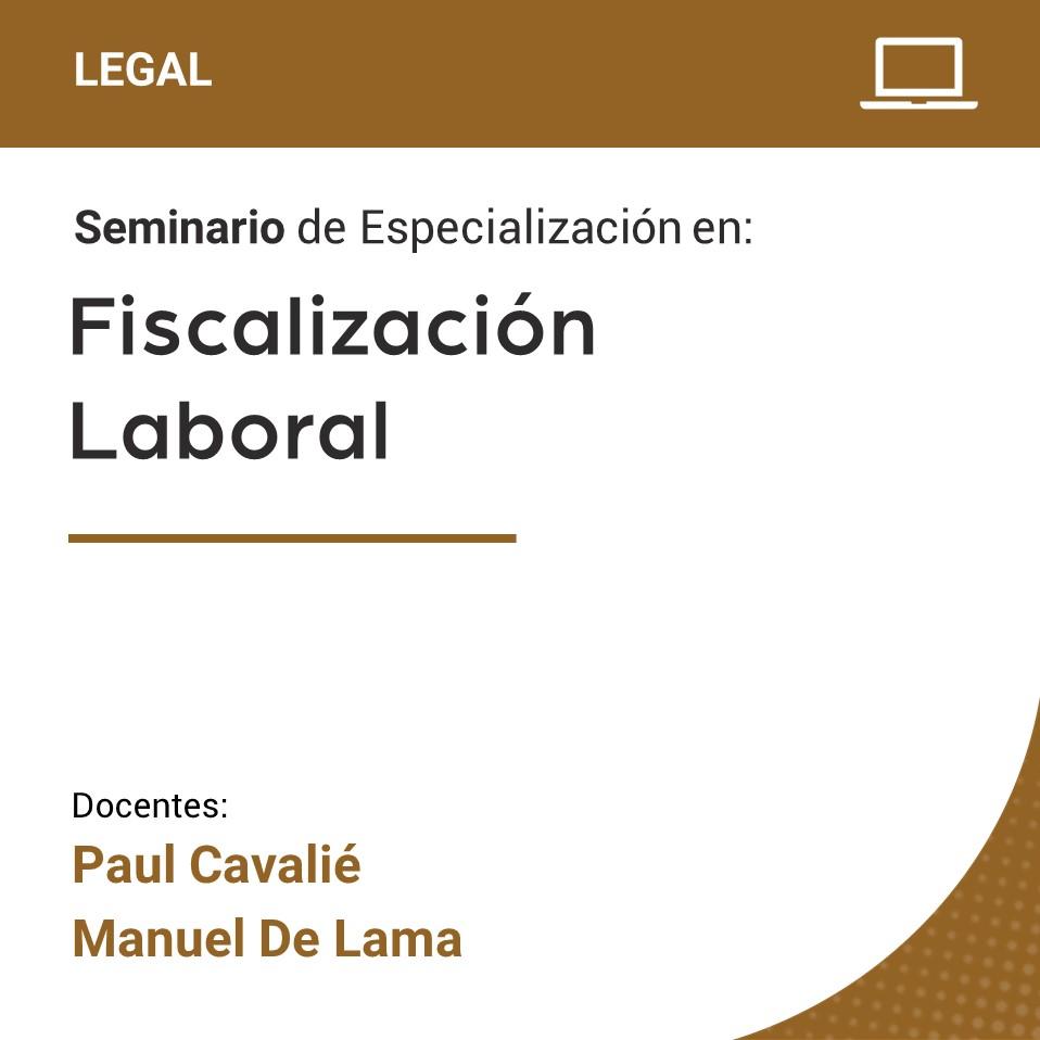 Seminario de Especialización en Fiscalización Laboral