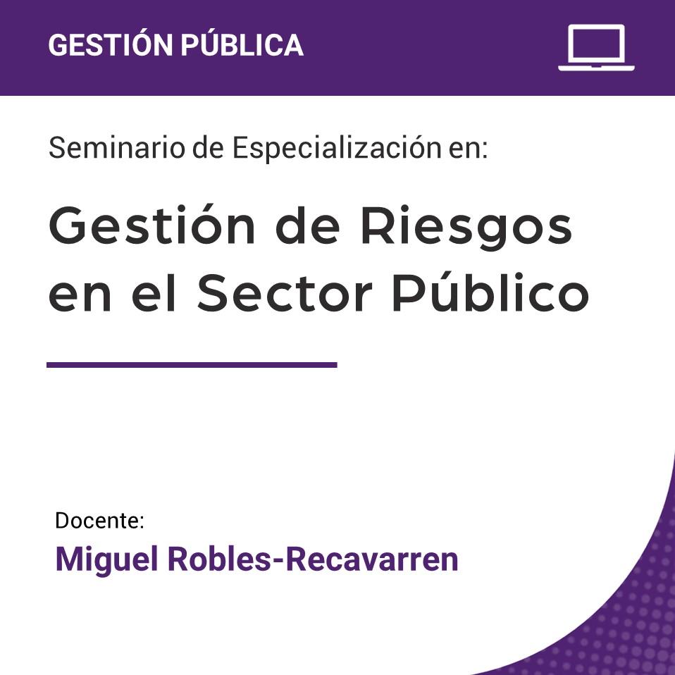 Seminario de Especialización en Gestión de Riesgos en el Sector Público