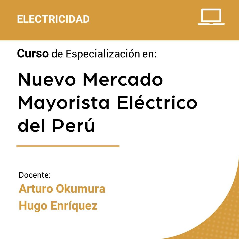 Curso de Especialización en Nuevo Mercado Mayorista Eléctrico del Perú