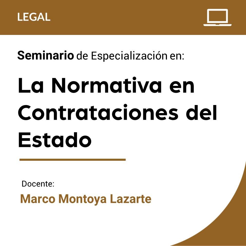 Seminario de Especialización en La Normativa en Contrataciones del Estado