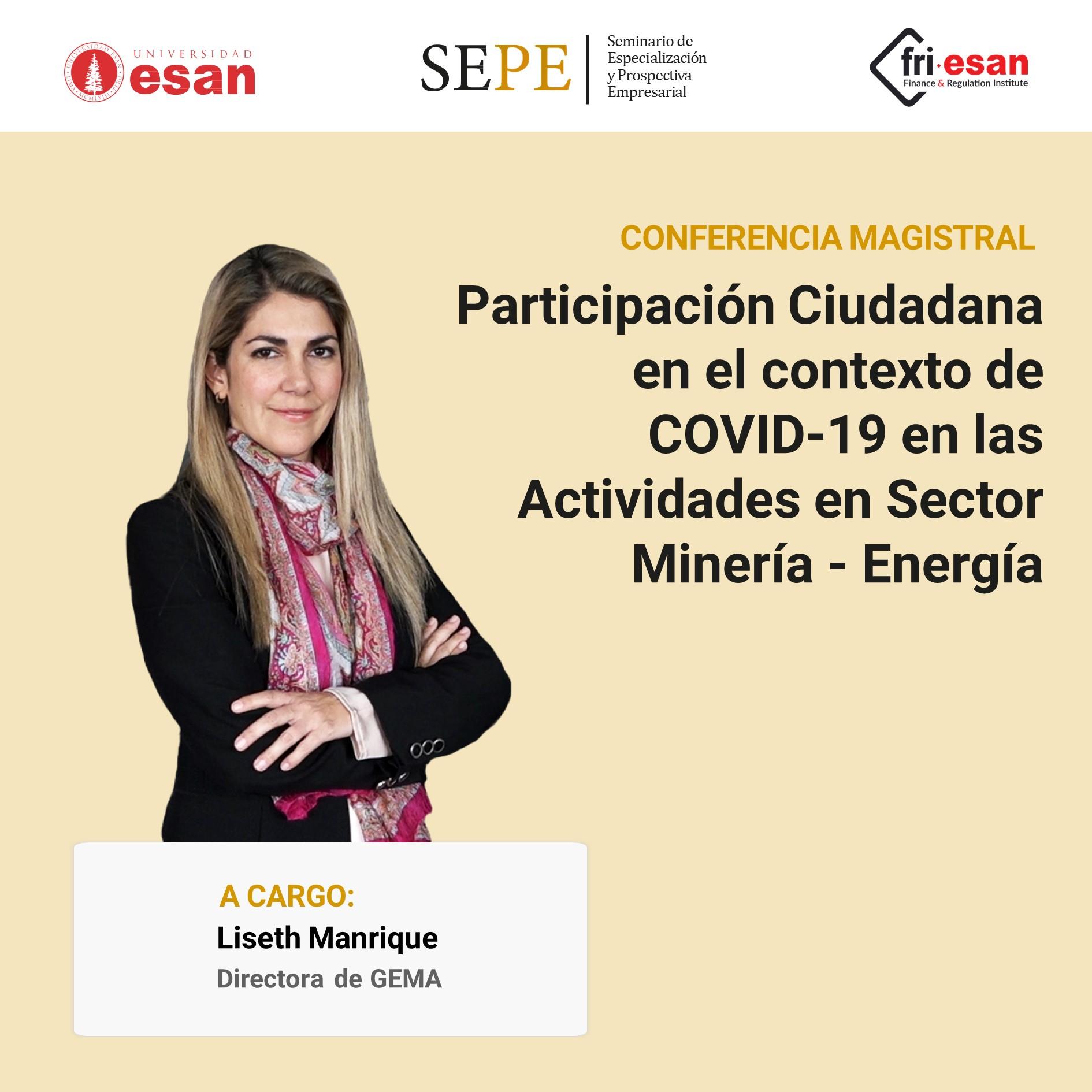 Participación Ciudadana en el contexto de COVID-19 en las Actividades en Sector Minería - Energía