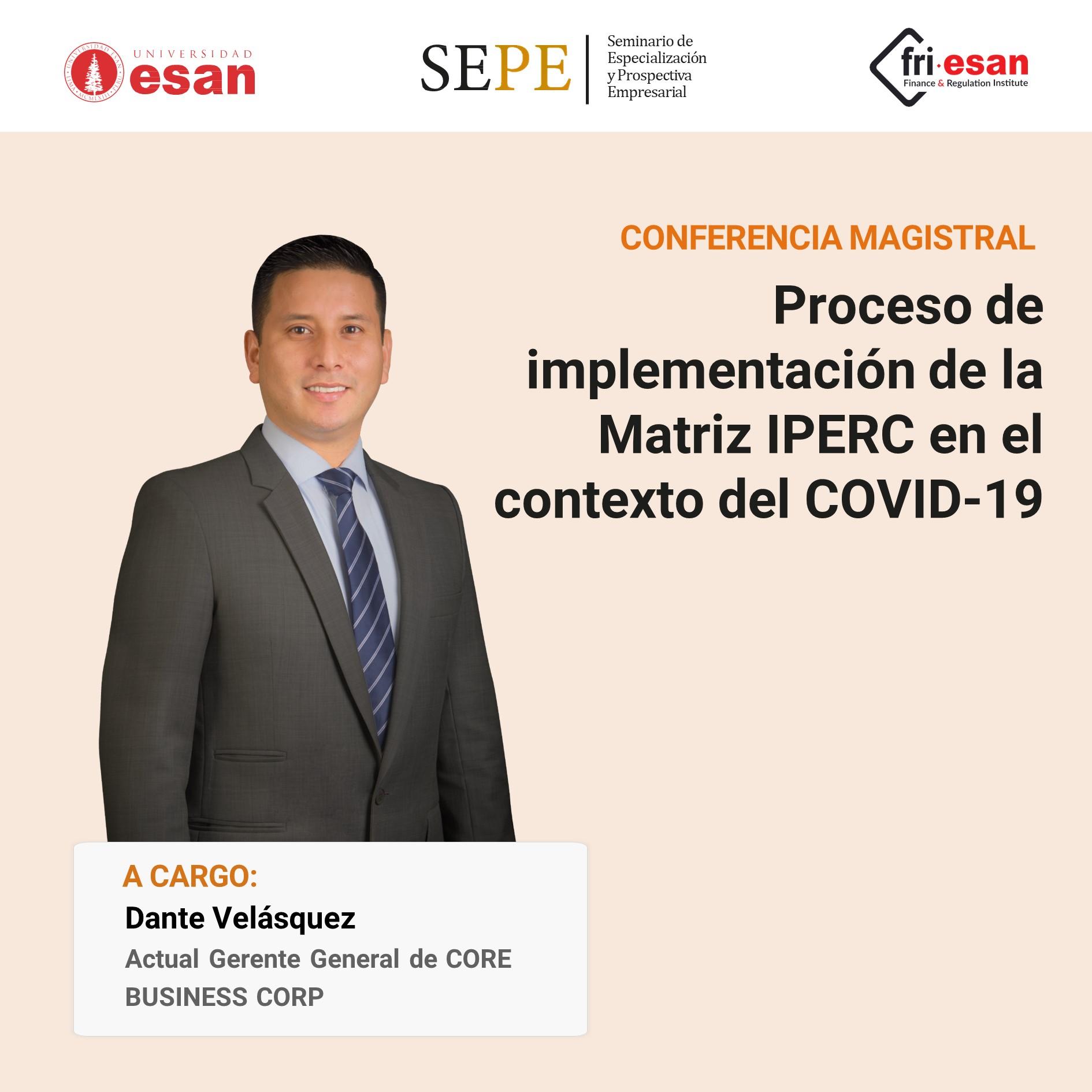 Proceso de implementación de la Matriz IPERC en el contexto del COVID-19
